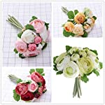 BESTOYARD-10pcs-Artificial-Flowers-Camellia-Bridal-Wedding-Bouquet-Bridesmaid-Bride-Toss-Bouquet-Home-Decoration-Green-White