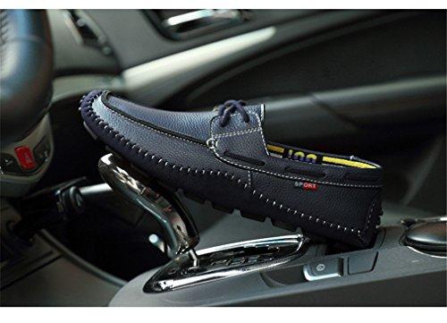 Lumino Grande Mocassins Des Cuir Chaussures Conduite Style1 Loafers En Black Flats La Hommes Glisser Taille Sur Plats Véritable Homme g4pgw6qrx