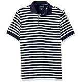 Nautica Men's Standard Classic Short Sleeve Stripe Polo Shirt, Pale Sage, Large