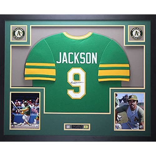 separation shoes 88a99 9c788 Reggie Jackson Framed And Autographed Signature Green A's ...