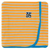 Kickee Pants Little Boys Print Swaddling Blanket - TAMARIN Brazil Stripe, One Size