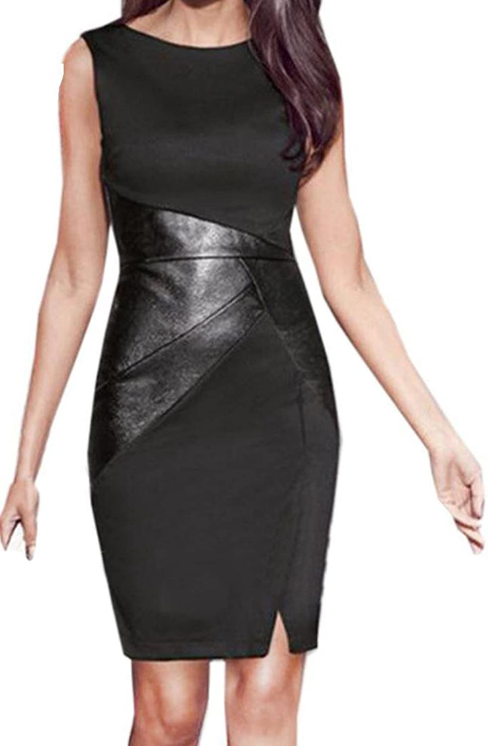 Generic Womens Sleeveless Party Evening Package Hip Bodycon Dress