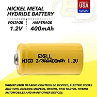 700 mAh 10x Exell 1.2-Volt Nickel-Metal Hydride Rechargeable Button-Top Battery Battery Replacement for Electric Razor 2//3 AA Toothbrush radio controlled devices electric tools electric mopeds
