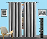 Cheap Infinite Home Beauty one panel of energy saving blackout curtains. Creates darker, quieter atmosphere. Perfect for bedrooms, living rooms or offices. (1 Blackout Panel 54″ x 84″, Grey)