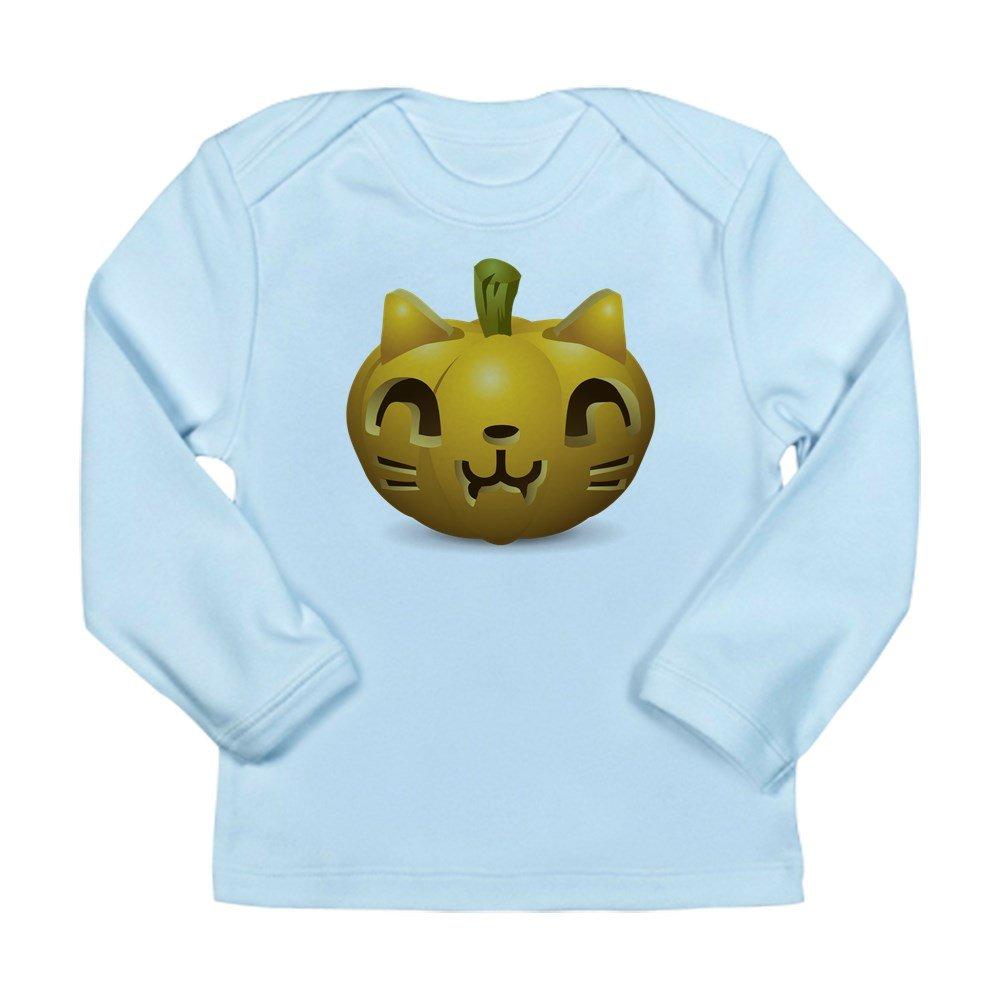 Sky Blue Truly Teague Long Sleeve Infant T-Shirt Kitty Cat Halloween Jack-O-Lantern 12 To 18 Months