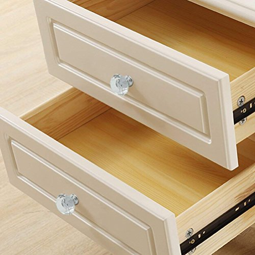 WOTOY Crystal Glass Cabinet Knobs 30mm Diamond Shape Drawer Cabinets Dresser Cupboard Wardrobe Pulls Handles 10 Pcs by WOTOY (Image #7)