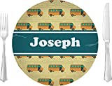 School Bus Glass Lunch/Dinner Plate 10'' (Personalized)