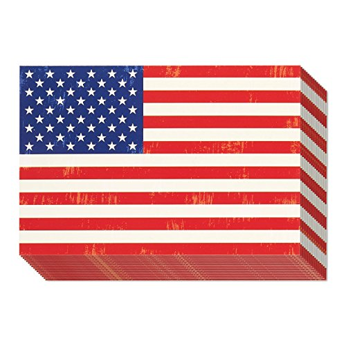 American Flag Postcards - 40-Pack Patriotic Postcards Set, All Occasion Postcards Bulk, Blank on the Inside, 4 x 6 ()