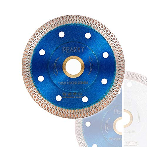 Peakit Tile Cutter Blade 4in Porcelain Diamond Saw Blade Ceramic Cutting Disc Wheel for Angle grinder, Reversible Color (Best Ceramic Tile Cutter)