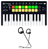 Novation LAUNCHKEY MINI MK2 25 Key USB Ableton Keyboard Controller+ Earbuds