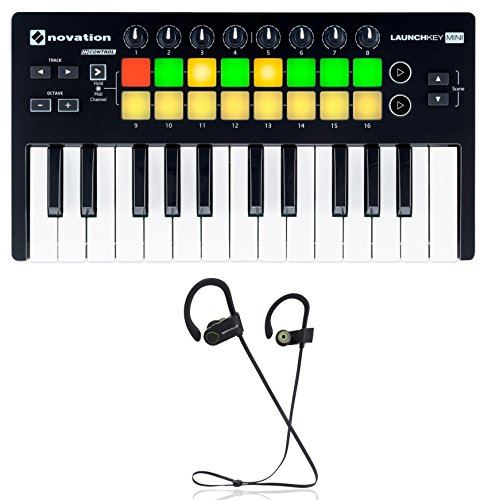 Novation LAUNCHKEY MINI MK2 25 Key USB Ableton Keyboard Controller+ Earbuds by Novation