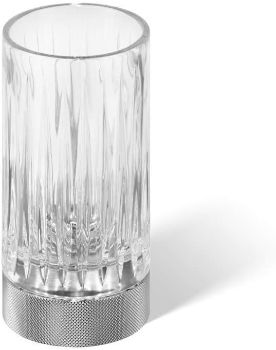 Chrom glatt Decor Walther Kristallmundglas in Standhalter Club SMG aus der Serie Club