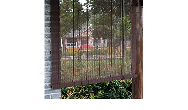 Persianas enrollables y estores Bambú Al Aire Libre Persianas Enrollables con Gancho para Balcón Porche, Pérgola O Mirador, 80 Cm / 100 Cm / 120 Cm / 140 Cm De Ancho (Size : 80×100cm): Amazon.es: Hogar