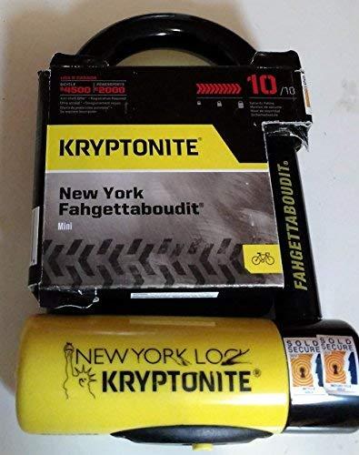 Kryptonite New York Fahgettaboudit Mini Heavy Duty Bicycle U Lock Bike Lock