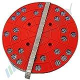 6KG ROULEAU Masses d'équilibrage Masses collantes Poids acier 1200x5g 12x5g Barrette adhésive avec ARÊTE DE BORDURE galvanisé& revêtement synthétique