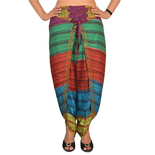 SNS Pure Cotton Aladdin Harem Dhoti Pant for Womens -
