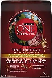 Purina ONE Smartblend True Instinct Natural Dry Dog Food, Turkey & Venison 12.