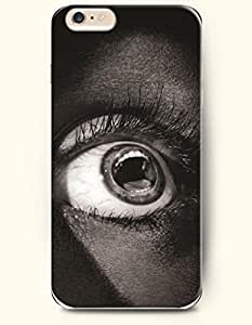 OOFIT New Apple iPhone 6 ( 4.7 Inches) Hard Case Cover - Cloudy Staring Black Eye wangjiang maoyi