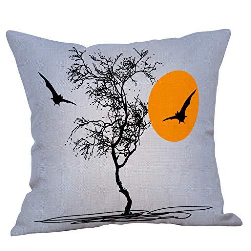 Respctful♫♬ Happy Halloween Decorations Pumpkin Pillow Case Cover, Decorative Throw Pillow Cover Cushion Case Cotton Linen