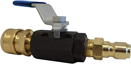 High Pressure Ball Valve Kit 3//8 Male Plug X 3//8 Female Quick Connect 4000PSI for High Pressure Hoses