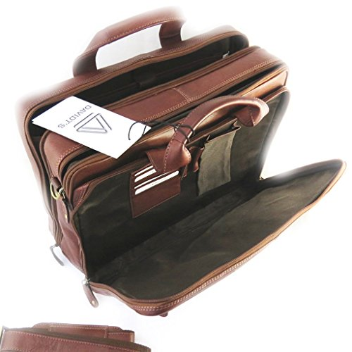 Price comparison product image Multifunction leather briefcase brown vendôme 15.