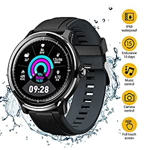 SmartWatchs,Reloj Inteligente Impermeable IP68,Bluetooth Relojes Deportivos Pantalla táctil completa para monitor deportivo para dormir,Pulsera ...