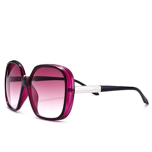 P-WEIAN Gafas de Sol de Moda Caja Grande Retro Gafas de Sol ...