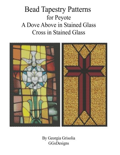 Dove Cross Stained Glass (Bead Tapestry Patterns  for Peyote A Dove Above in Stained Glass Cross in)