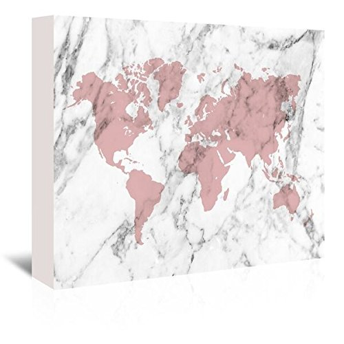 Americanflat - Distressed Pink and white distressed Map