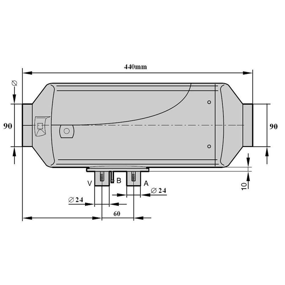 DC 12V 2KW Air Diesel Heating with Silencer Air Diesel Heater