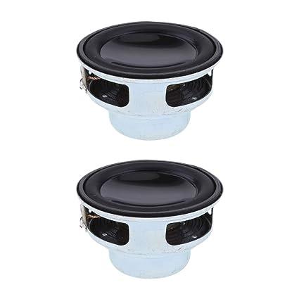 """2Piece 40mm 5W Stereo Audio Speaker 1.5/"""" 4-8Ohm Full-range DIY Loudspeaker"""