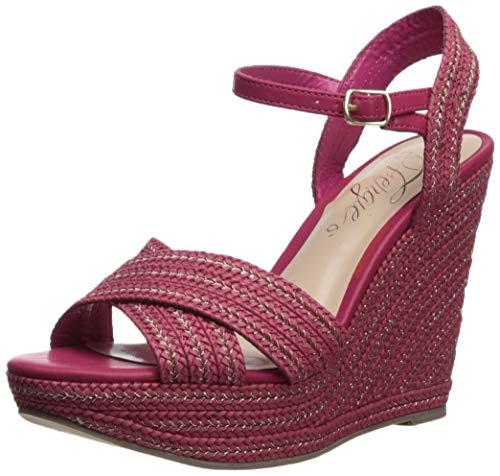 Sandal Belize - Fergie Women's Belize Wedge Sandal, Pink 9.5 M US