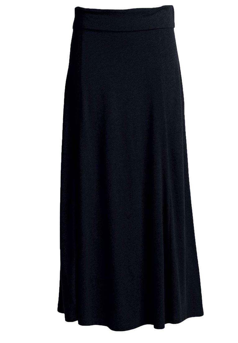 Ellos Women's Plus Size Flared Elastic Waist Skirt Black,6X