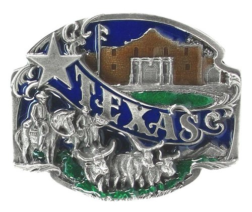 - Pewter Belt Buckle - Texas Split Image