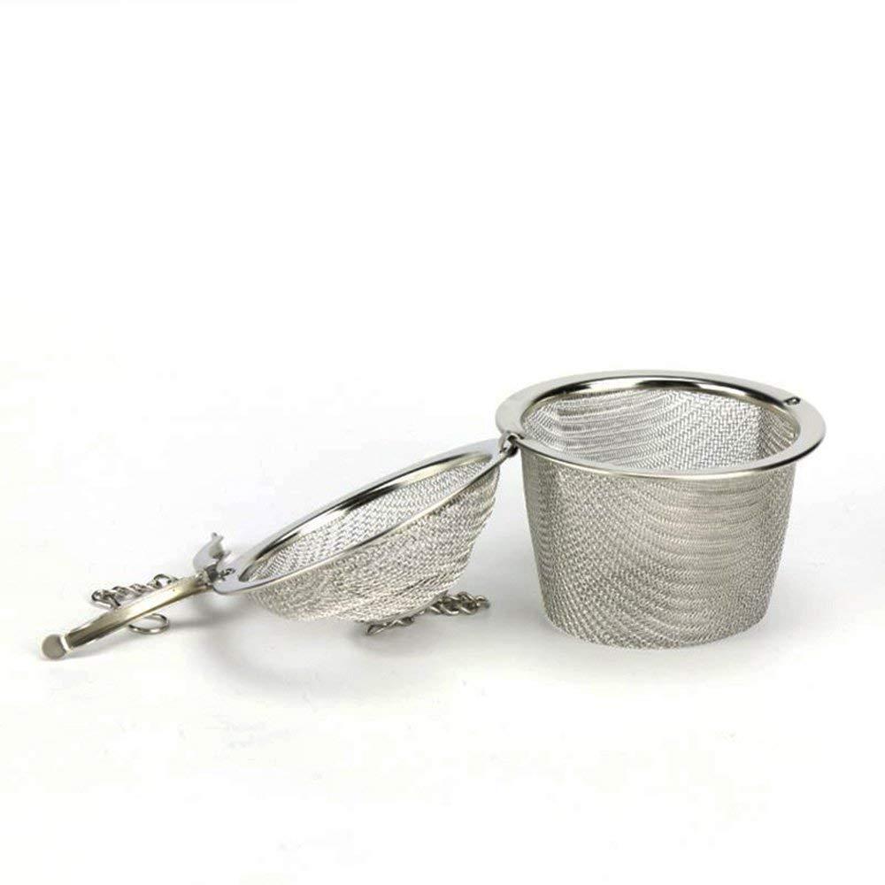 Ogquaton Colador de t/é Reutilizable Infusor de Acero Inoxidable Suministros de Cocina duraderos para Filtro de t/é Uso de Especias herbales 1 UNIDS