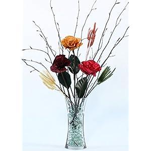 Green Floral Crafts Burmese Forever Roses & Branches DIY Kit(Glass Vase Optional) 6