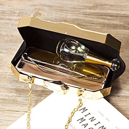 LA HAUTE - Cartera de mano para mujer plateado plata dorado