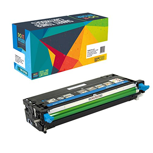Do it Wiser Compatible High Yield Toner Cartridge Replacement for Dell 3110 3110cn 3115 3115cn Cyan