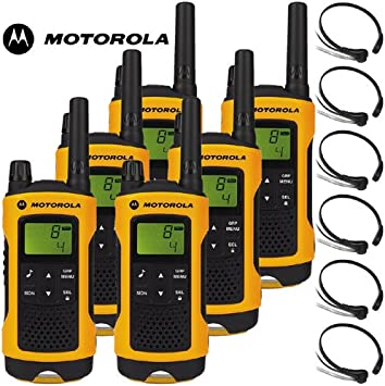 10Km Motorola TLKR T80 Extreme Two Way Radio Walkie Talkie Travel Pack with 6 x Comtech CM-215TH PTT/VOX Throat mics for Skiing & Go Karting: Amazon.es: Electrónica