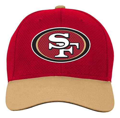 Outerstuff NFL Youth Boys Tech Structured Snapback Hat-Crimson-1 Size, San Francisco 49ers
