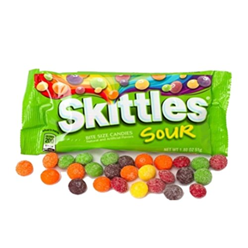 All American Skittles (Sour 1.8 Oz, 24 Pack)