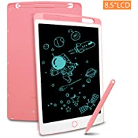 Richgv LCD Writing Tablet with Stylus, 8.5 Inch Digital Ewriter Electronic Graphic Drawing Tablet Erasable Portable Doodle Mini Board Memo Notepad for Kids Learning Toys Birthday Gifts (Pink)