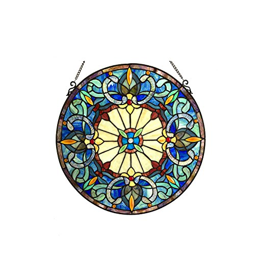 Chloe Lighting Frances Glass Window Panel, One Size, Multicolor