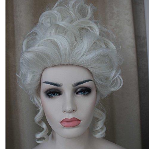 Wig Marie Antoinette Platinum (Queen Marie Wigs Antoinette Queen Queen Palace Masquerade Milk Platinum Short Heat Resistant Fiber)