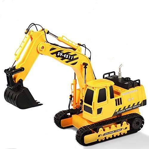 Hosim 1:20 Remote Control Truck RC Excavator Toy with Rechargeable Battery Lights and Sounds 2.4GHz Construction Vehicles Tractor