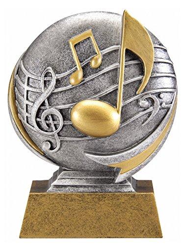 Music Motion Xtreme 3D Trophy | Music Teacher Award | 5 Inch Tall - Customize Now - Decade - Motion Award Resin