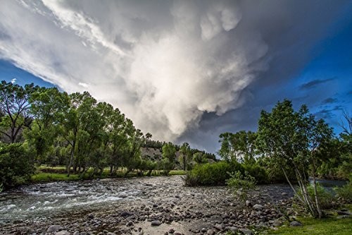San Juan River Photography Print - Picture of Summer Thunderstorm in Pagosa Springs Colorado Rocky Mountain Decor Artwork for Home Decoration 5x7 to 30x45 (Outdoor Stores In Colorado Springs)