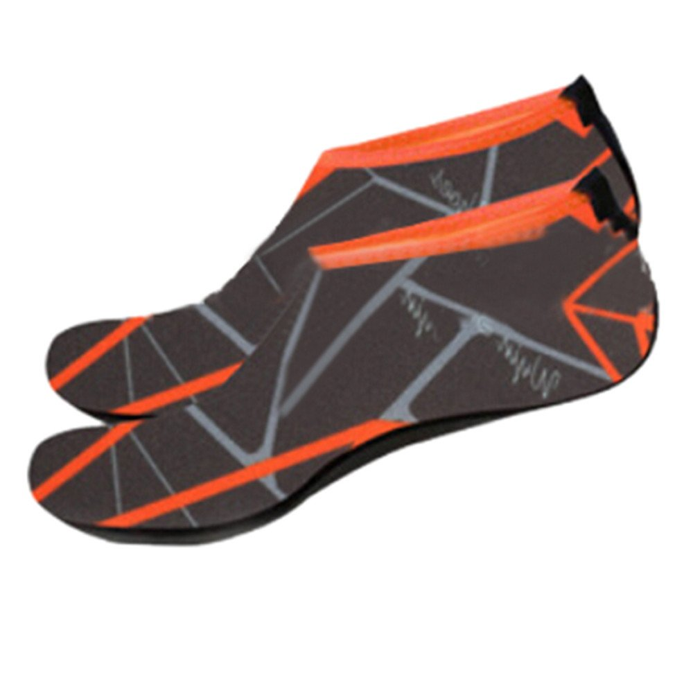 KESEELY Men Women Outdoor Water Sport Diving Swim Socks Yoga Soft Lighweight Beach Shoes Stretch Fabric Shoe Gray