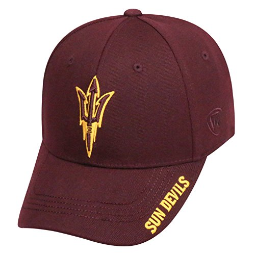 State Sun Cap Devils Arizona (Top of the World NCAA-Premium Collection-One-Fit-Memory Fit-Hat Cap-Arizona State Sun Devils)
