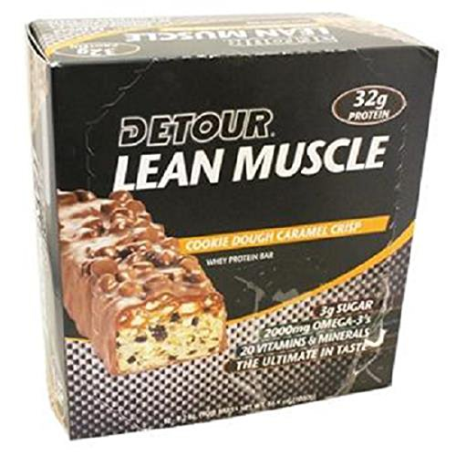 Product Of Detour Lean Muscle, Cookie Dough Caramel Crisp, Count 12 - Nutrition Bar With Protein / Grab Varieties & Flavors Cookie Dough Caramel Crisp